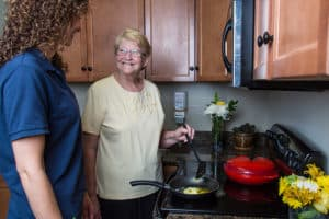 resident assisted with cooking