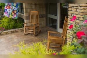 Rocking chairs at main entrance