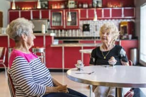 residents at ice cream social
