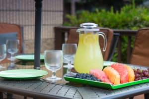refreshemts on patio table