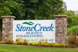 StoneCreek facility sign